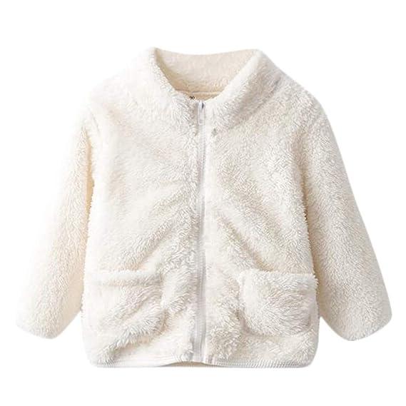 Amlaiworld Abrigos de bebé Abrigo Mullido sólido para bebé niño niña Abrigo Chaqueta Ropa de Abrigo Abrigada Gruesa Sudaderas Camiseta Camisas: Amazon.es: ...