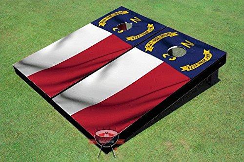 North Carolina揺れる旗テーマCorn穴ボードCornhole Game Set B00TJ0D838