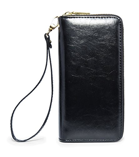 LIKESHE Women Multifunctional Double Zip Around Wallet Clutch Large Travel Purse(YX ()