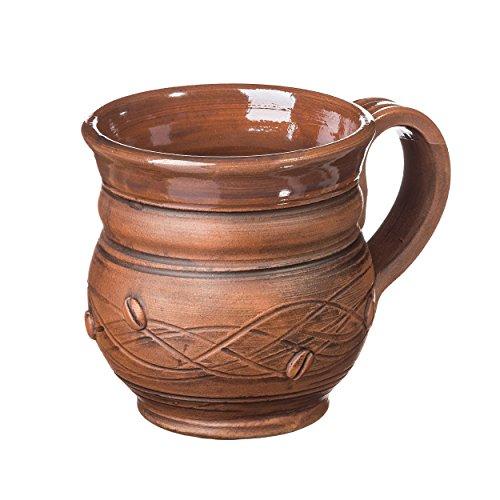 Coffee mug 8.5 oz Pottery mug Handmade cup Rustic coffee mug Stoneware mug Ceramic mug (Rustic Stoneware)