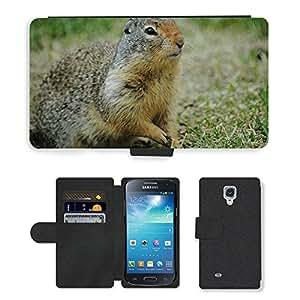 Just Phone Cover Hot estilo teléfono móvil ranura para tarjetas piel sintética tipo cartera caso//m00138295ardilla de tierra Ardilla Hierba//Samsung Galaxy S4Mini i9190