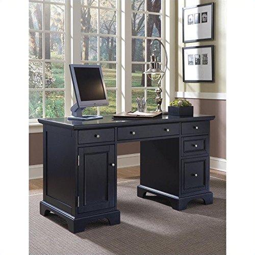 Home Styles Home Style 5531-18 Bedford Pedestal Desk, Black