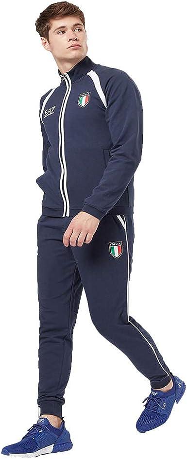 Emporio Armani Pantalón Chándal Hombre EA7 Color Azul ...