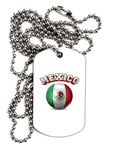 TooLoud Soccer Ball Flag - Mexico Adult Dog Tag Chain Necklace - 1 Piece