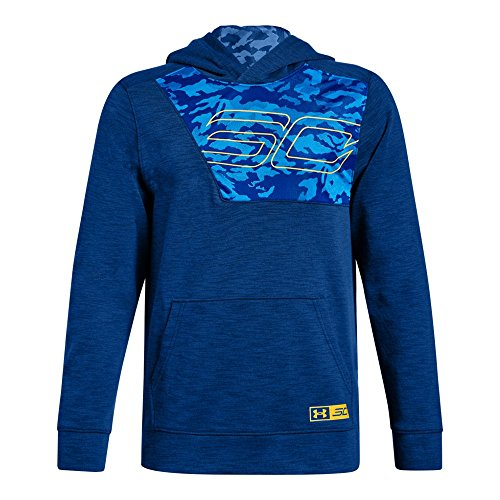 - Under Armour Boys SC30 Fleece Hoodie, Royal (400)/Taxi, Youth Large