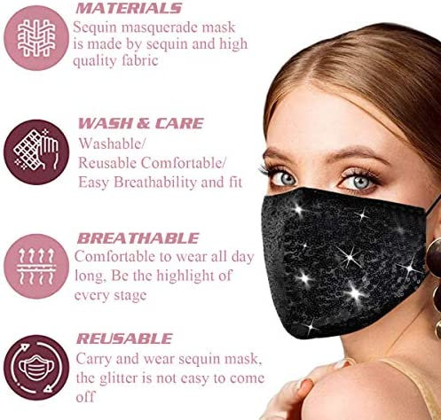 Genovega Women Stylish Face Mask with Adjustable Ear Loops for Protection