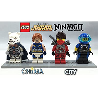 LEGO 4 Minifigures Boxed Giftset Cube 2015 - Superheroes, Chima, Ninjago, and City Themes: Toys & Games