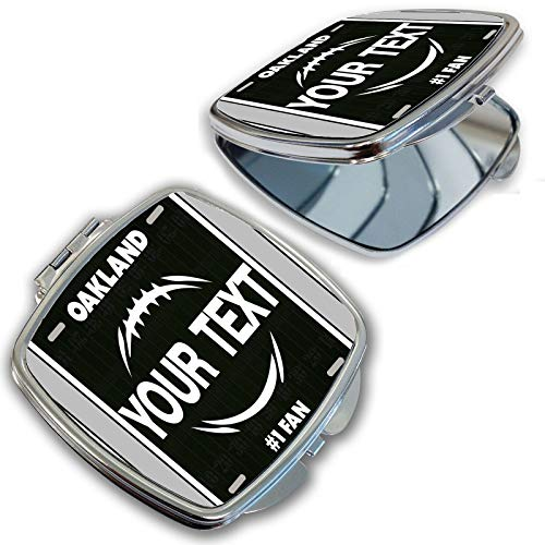 BRGiftShop Customize Your Own Football Team Oakland Compact Pocket Cosmetic Mirror