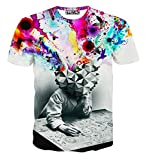 cool shirts - FaPlus Fashion Men's Short sleeve T-Shirt Lightning Knight Cat M
