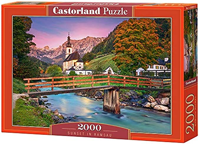 Castorland 200801, Sunset in Ramsau, 2000 Pieces