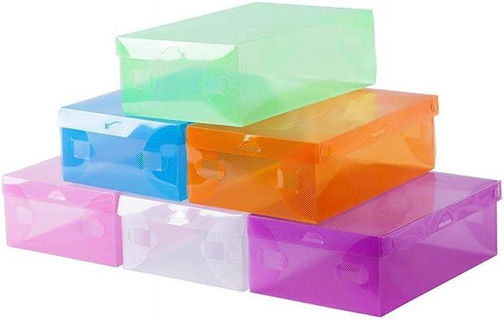 LASTARTS Caja De Zapatos De Plástico con Cubierta Gruesa De Color Caramelo Caja De Zapatos con