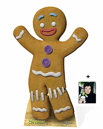 Fan Pack - Gingy the Gingerbread Man from Shrek Cardboard Cutout / Standee / Standup Includes 8x10 (20x25cm) Photo -