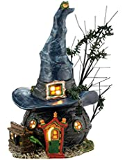 Department 56 Snow Village Halloween Toads and Frogs Witchcraft Haunt Lit House, 5.91-Inch