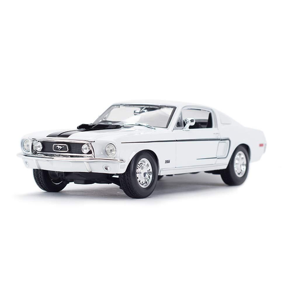 Auto Modello Model Car Mustang GT Classic Car Model Modello in Scala 1 18 Die-Casting Modello in Lega Modello Collezione di Gioielli Regalo ( Colore   Bianca )