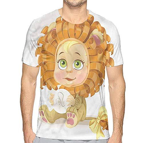 t Shirt for Men Zodiac Leo,Baby in Lion Costume Custom t Shirt L -