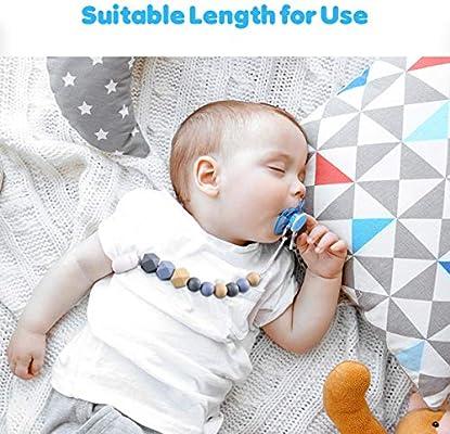 Amazon.com: Chupete Clips de silicona para dentición perlas ...