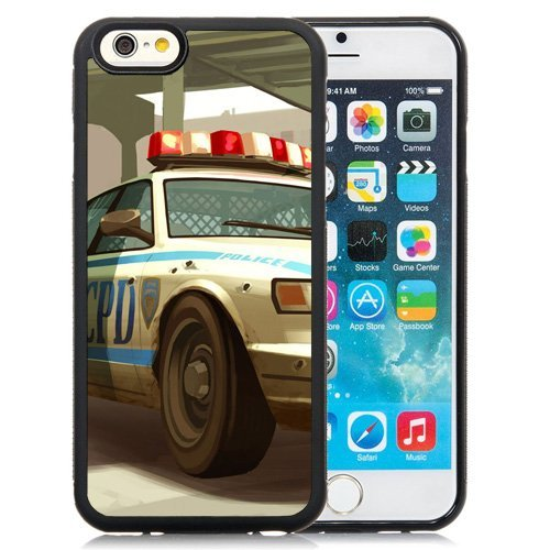 Personality customization iPhone 6 case, Lcpd Gta Police Cop Car Shot iPhone 6 phone case At J-15 Cases (Grand Theft Auto Lcpd compare prices)