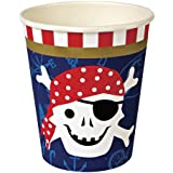 Gobelets en carton Pirates par lot de 12 Meri Meri