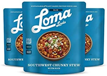Loma Linda Blue - Vegan Complete Meal Solution - Heat & Eat Southwest Chunky Stew (10 oz) (Pack of 3) - Non-GMO, Gluten Free