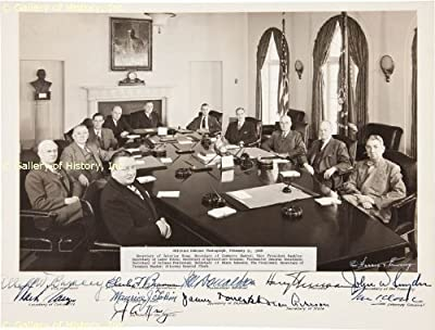 President Harry S Truman and Cabinet - Signed Photograph