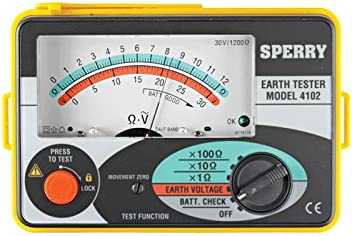 Sperry 4102MOV Analog Earth Resistance Tester