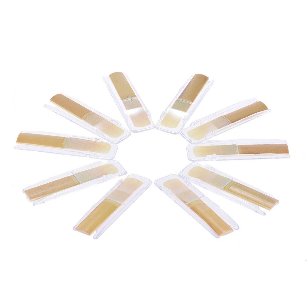 ammoon Clarinete Bb las Cañas de Bambú Tradicional Fuerza 3.0, Caja de 10