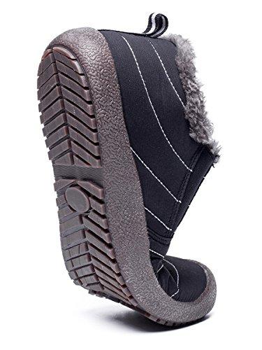 Botas De Nieve Antideslizantes Para Hombre Yiruiya Con Parte Superior / Top Baja Con Forro De Piel CompletaHombreste Negra / Parte Baja