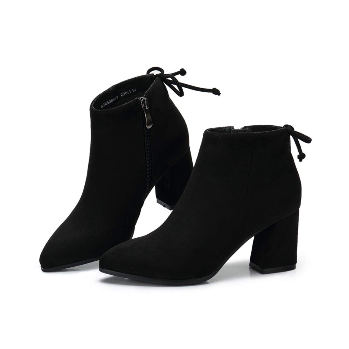 Cute girl Damenschuhe Damenschuhe Damenschuhe Elegante Einfache Spitzer Kopf Mit Kurzen Stiefeln Pendler Stiefelies Schwarz b429e1
