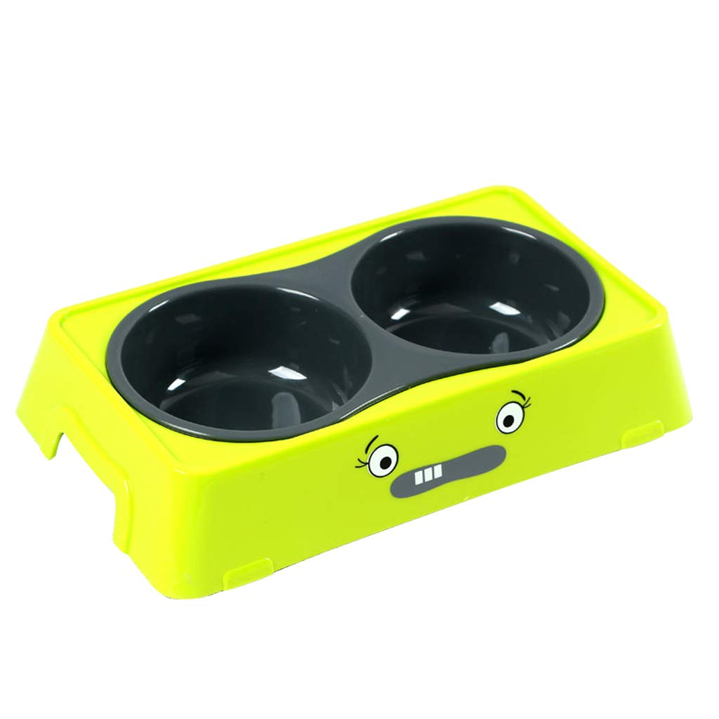 M MXD Pet Supplies Dog Bowl Dog Pot Cat Bowl Cat Food Bowl Non-Slip Double Bowl Small and Medium Dogs (Size   M)