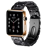 BONSTRAP Resin Watch Band with Stainless Steel Buckle for Apple Watch 38/40mm