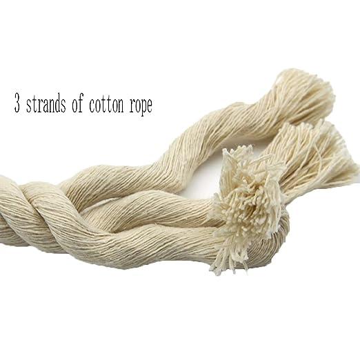 ZHWNGXO Macrame 10mm Arte de la Cuerda Cuerda, 3 filamentos Tejido ...