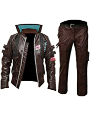 "KAAZEE Cyberpunk 2077"" V Samurai Leather Jacket Cosplay Costume"