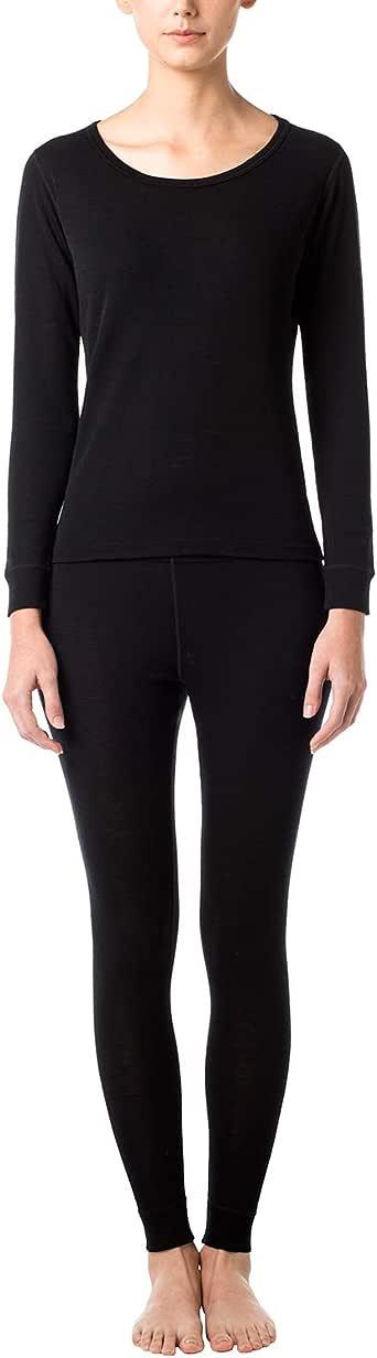 LAPASA Women's 100% Merino Wool Thermal Underwear Long John Set Lightweight Base Layer Top and Bottom L58