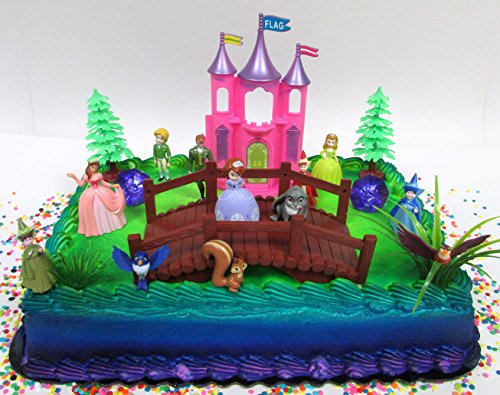 Pleasing Sofia The First 20 Piece Birthday Cake Topper Set Featuring Sofia Personalised Birthday Cards Cominlily Jamesorg