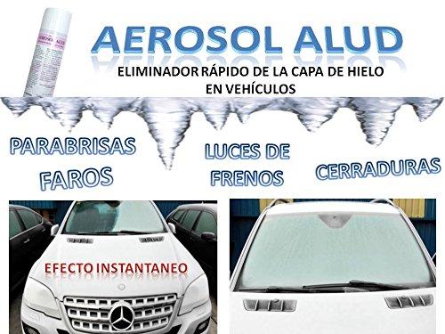 SATECMA Quita Hielo descongelante para Coche Aerosol ALUD (Pack 2 UDS) Spray para Luna, Parabrisas, Faros, cerraduras, Espejos y retrovisores: Amazon.es: ...