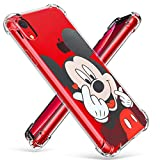 Logee TPU Mickey Mouse Cute Cartoon Clear Case for iPhone XR 6.1',Fun Kawaii Animal Soft Protective Shockproof Cover,Ultra-Thin Chic Unique Funny Character Cases for Kids Teens Girls Boys(iPhoneXR)