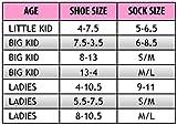 Sonic Girl's 5 Pack No Show Socks, Size Sock