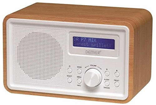 Denver DAB-35, Digital Radio (Digital, DAB+, FM, PLL, 87,5 - 108 MHz, 174 - 240 MHz, LCD), Color blanco, madera