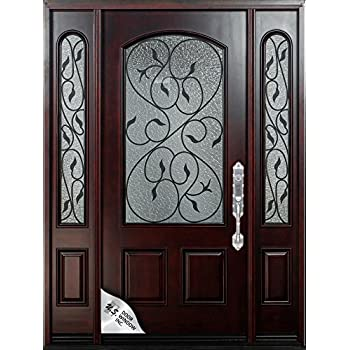 Magnificent 12 36X80Exterior Front Entry Valencia Wood Door With Door Handles Collection Olytizonderlifede
