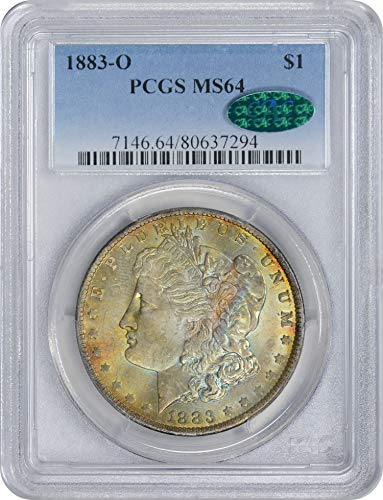 1883 O Morgan Silver Dollar Golden Red Toned Obverse w/Blue Highlights MS64 PCGS/CAC (Toned Obverse)