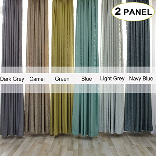 Artdix Burlap Curtains Panels Window Drapes - Light Grey 50W x 108L Inches (2 Panels) Grommet Top Nursery Insulated Solid Fabric Thermal Custom Curtains For Bedroom, Living Room, Kids Room, Kitchen