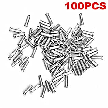 CA 100pcs cycling brake cable caps bicycles derailleur shift cable end caps Nice