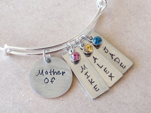 Personalized Mother / Mom Bracelet, Children's Name hand stamped bracelet, Gift for Mom, Gift for her, Mother's Day Gift