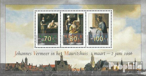 Netherlands Block46 (complete.issue.) 1996 Vermeer-Paintings (Stamps for collectors) Prophila Collection