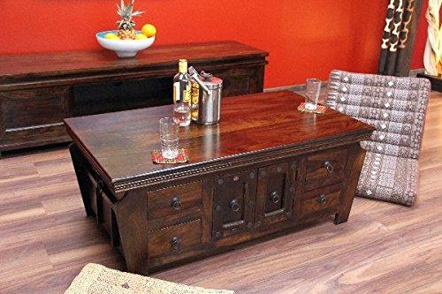 Mesa de centro, nogal, salón, madera, maciza, Colonial, 110 x 60 x ...