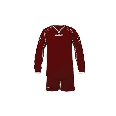 Givova - Juego de camiseta de manga larga y pantalones cortos de fútbol,