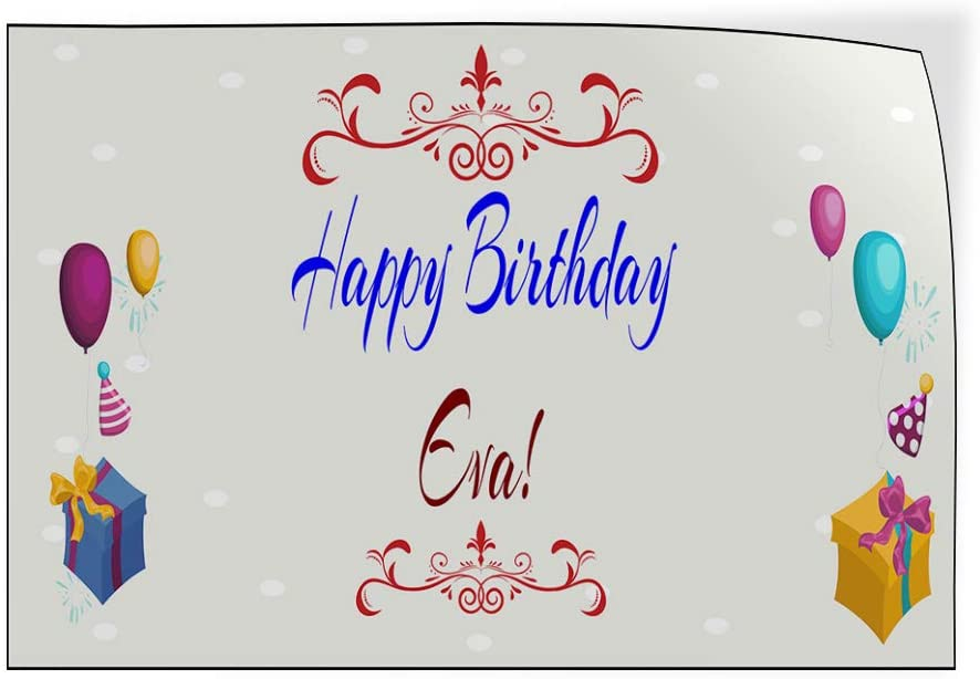 Custom Door Decals Vinyl Stickers Multiple Sizes Happy Birthday Girl A Lifestyle Happy Birthday Signs Outdoor Luggage /& Bumper Stickers for Cars Red 72X48Inches Set of 2