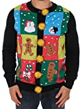 Tipsy Elves Men's Ugly Christmas Sweater - Ugly Panel Cardigan