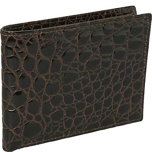 budd-leather-crocodile-bidente-slim-wallet-brown