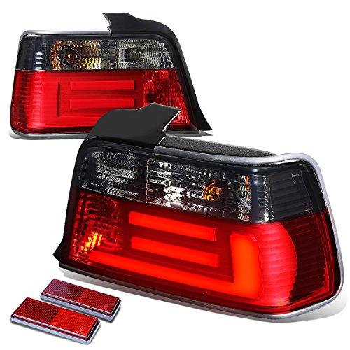 BMW E36 3-Series Sedan Pair of Smoked Lens Red LED Rear Brake+Signal Tail (Red E36 Sedan)